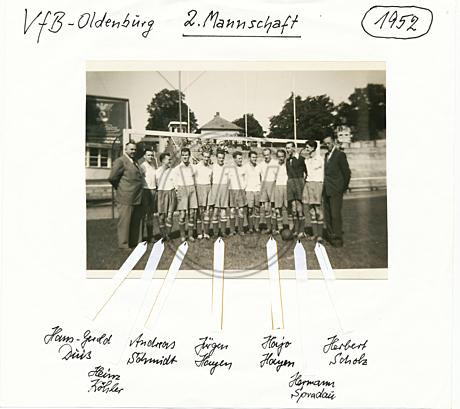 Mannschaftsfoto VfB Oldenburg 1952