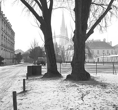 Schloßplatz im Winter